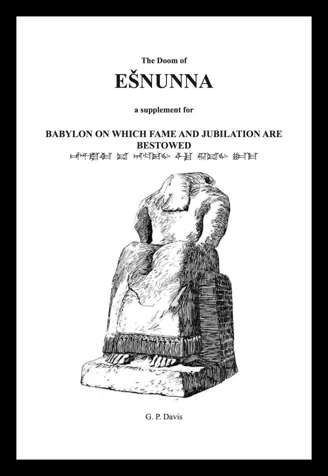 Eshnunna Frontpage